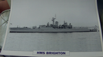 HMS Brighton 1959 Frigate warship framed picture (15)